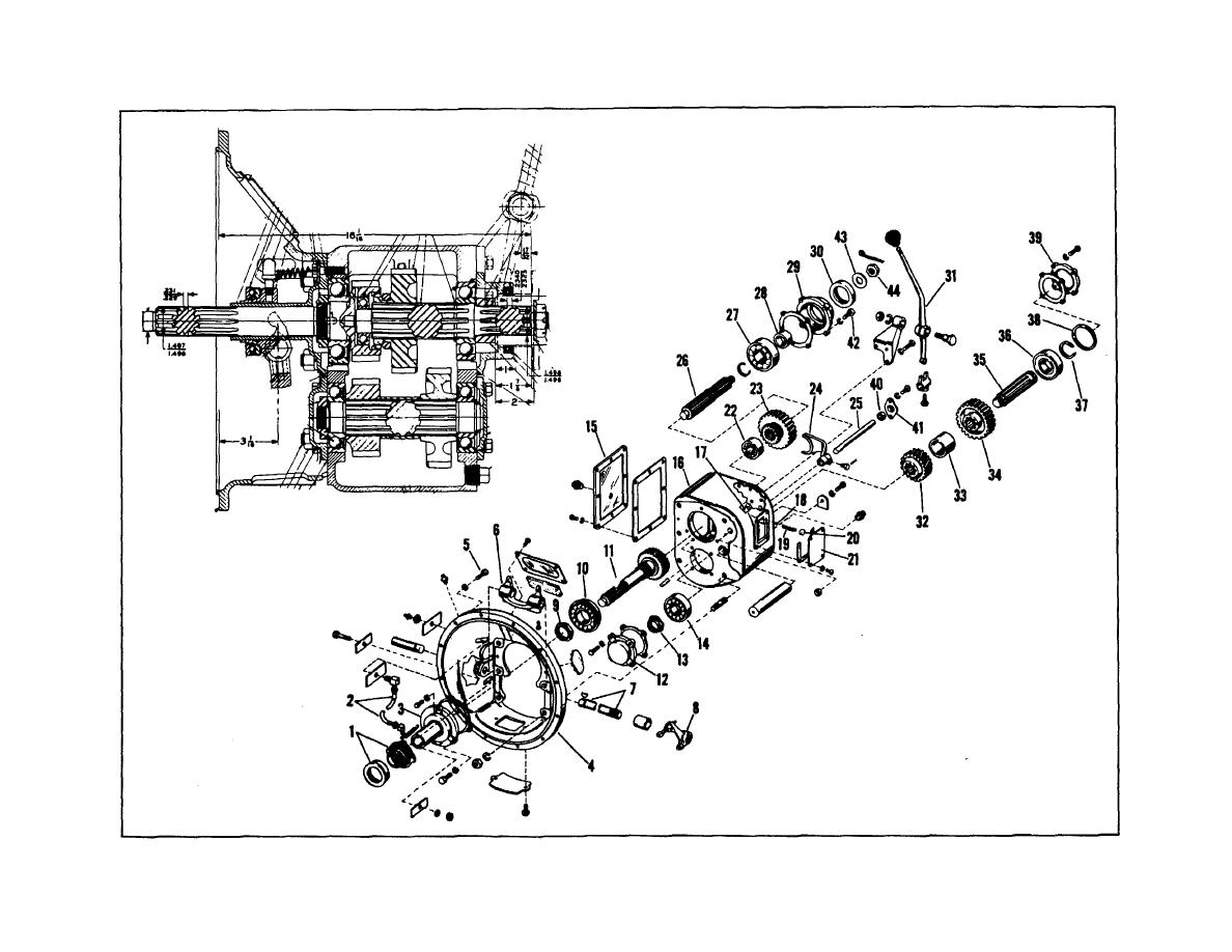 Figure 8 Sectional And Exploded View Of Rotor Drive Transmission Polaris 325 Magnum Wiring Schematic