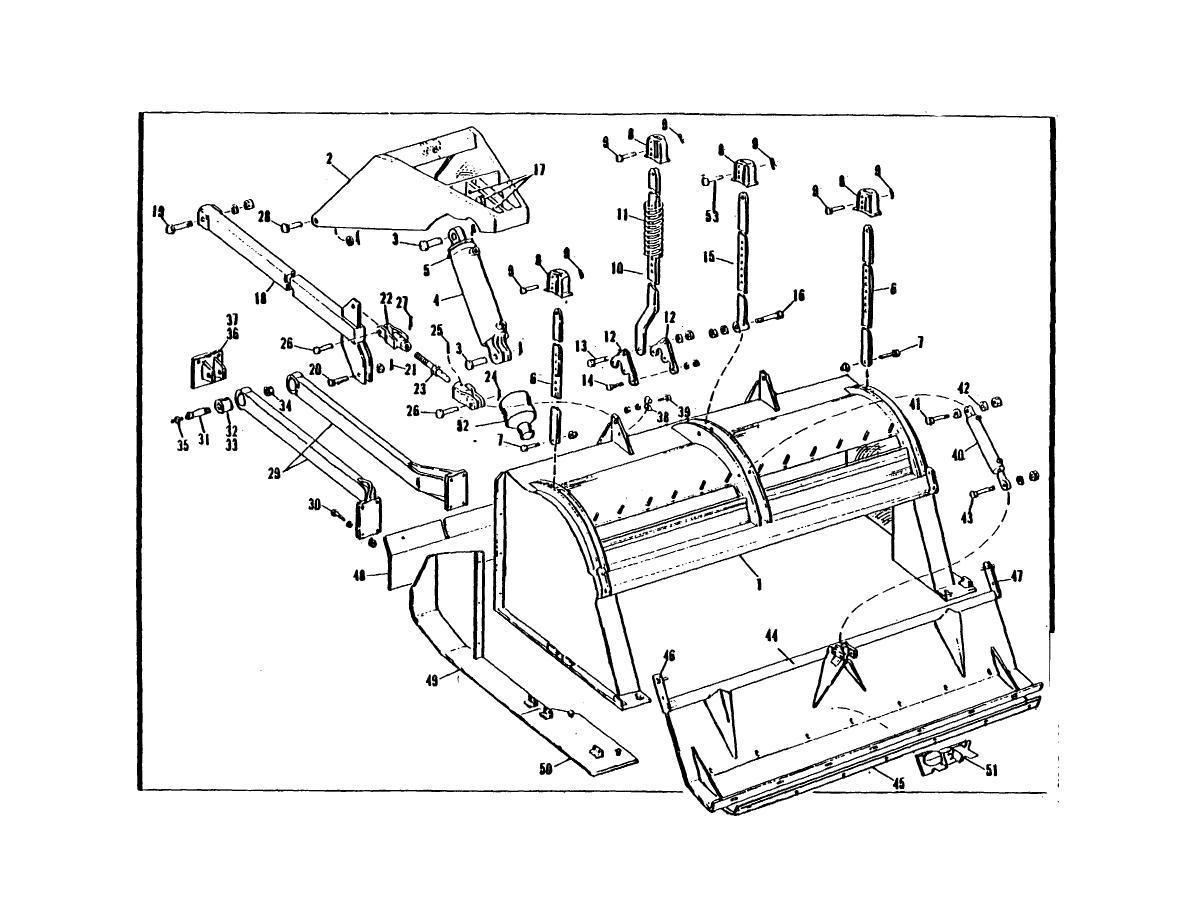 Fig  1  Rotor Hood  Tailboard  Lift Arms  Hood Arms  Jack